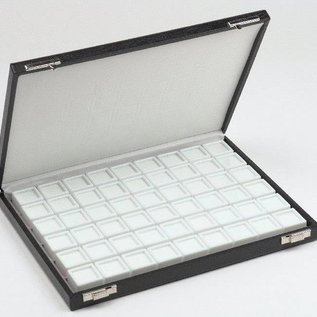 case content 54 glass lid boxes for gemstones