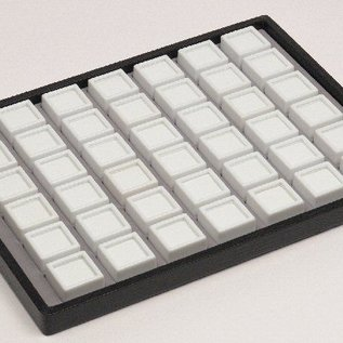 case content 42 glass lid boxes for gemstones