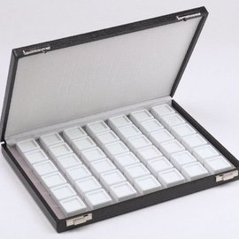 case content 42 glass lid boxes