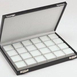 Case content 24 glass lid boxes