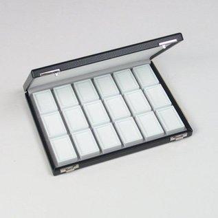 case content 18 glass lid boxes