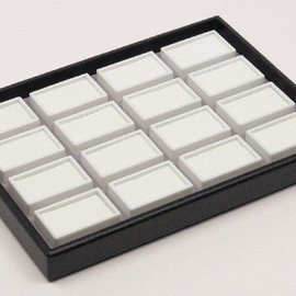 stacking tray content 16 glass lid boxes