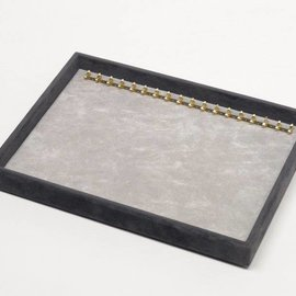 Stacking tray with 18 hooks