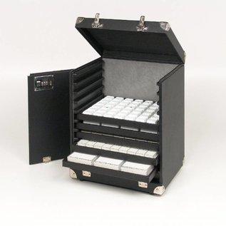 Sample case for 11 sliding trays