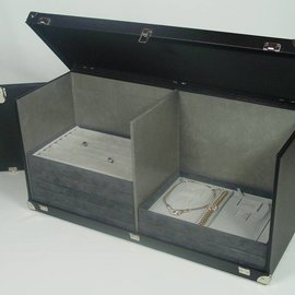 Sample case for stacking trays KL double