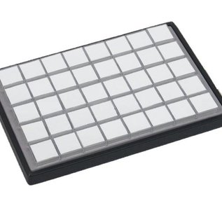 Sliding tray with 40 plastic boxes