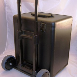 Aluminium sample case with trolley for jewelry or gemstones
