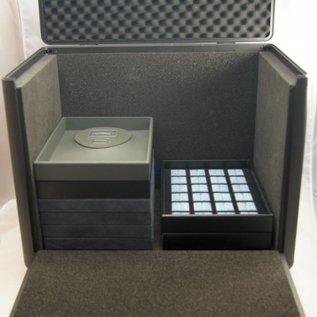 Aluminium sample case double for gemstones or jewelry