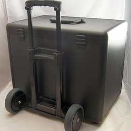Aluminium sample case double with caddy
