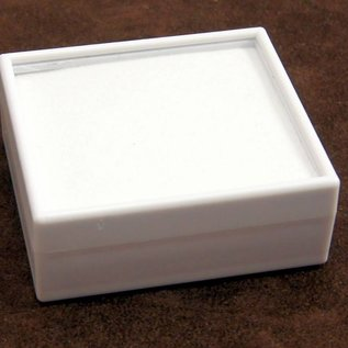 Gem stone box with glass lid high