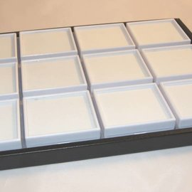 Sliding tray with 12 boxes