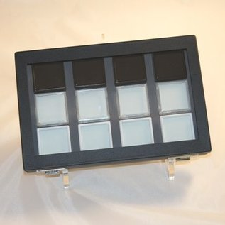 Plexiglass stand for cases and trays