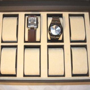 Uhrenetui mit Glasdeckel für 8 Uhren