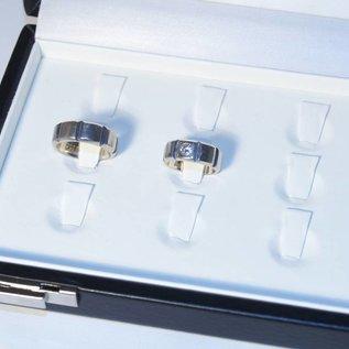 Etui für Ringe mit 12 Laschen