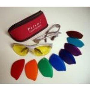Aura-Soma Aura-Soma E31S Prisma Basis Set: Montuur Zilver + 3 glazen: Oranje, Geel en Blauw