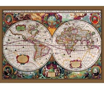Fotobehang Antieke kaart 232 x 315