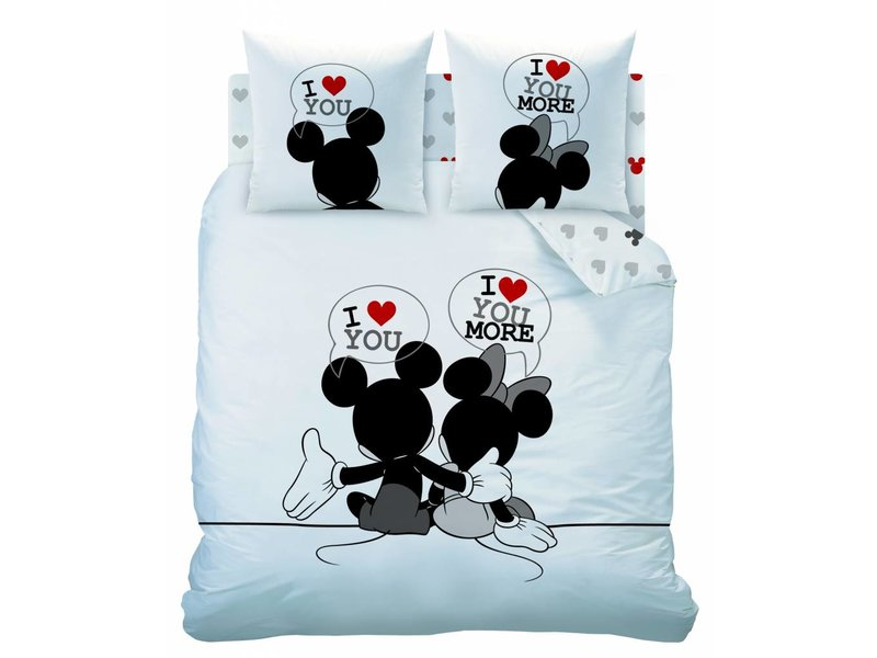 Disney Minnie Mouse The End - Dekbedovertrek - Tweepersoons - 200 x 200 cm - Wit/Multi