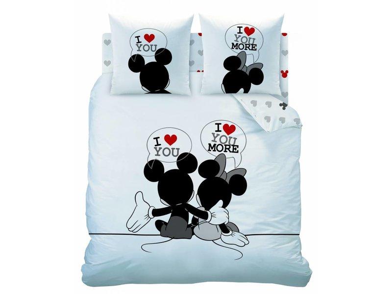 Disney Minnie Mouse The End - Dekbedovertrek - Lits Jumeaux - 240 x 200/220 cm - Wit