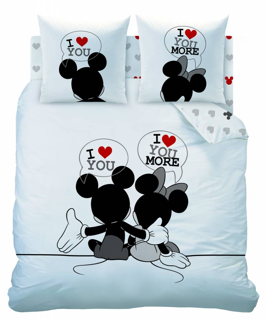 Disney Minnie Mouse The End   Dekbedovertrek   Lits Jumeaux   240 x 200  220 cm   Wit   SimbaShop nl
