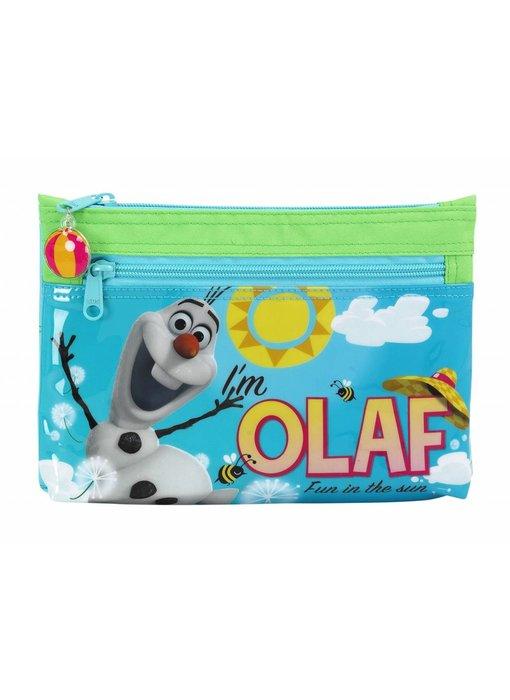 Disney Frozen Olaf pencil case two zippers