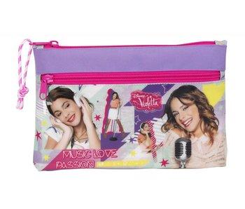 Disney Violetta Neon Pouch 2 zippers