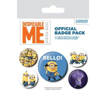 Minions Buttons 5er-Pack