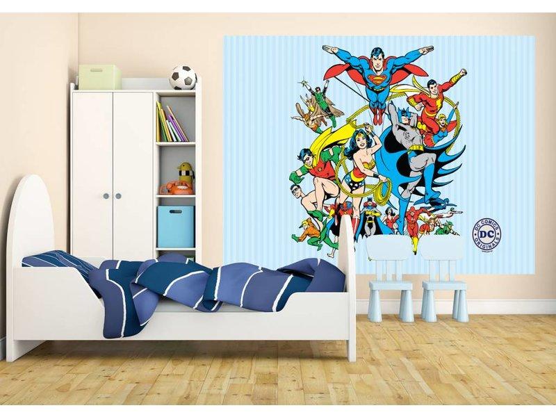 dc comics dc comics collage 232 x 158 cm. Black Bedroom Furniture Sets. Home Design Ideas