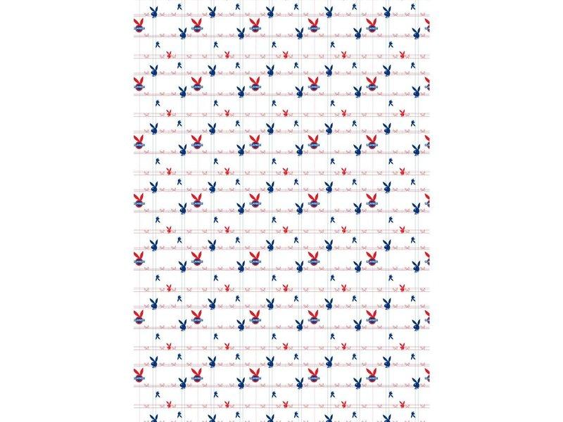 Playboy Underground - Fitted Sheet - Single - 90 x 190/200 cm - White