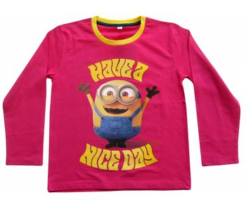 Minions Shirt girls 6 jaar Nice