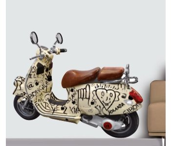 Muursticker Italiaanse Scooter 70x50cm