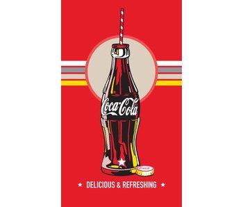 Coca Cola Strandlaken Bottle 100% katoen 70x120cm