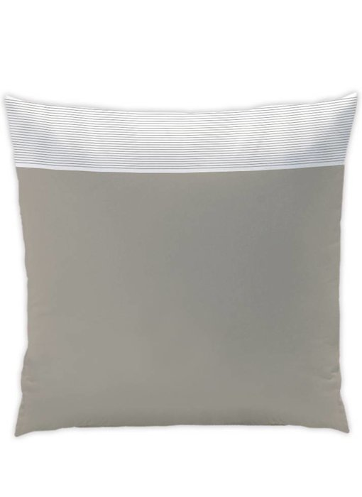 Matt & Rose Cushion Chaleureux goûter taupe / white pleated 65x65cm