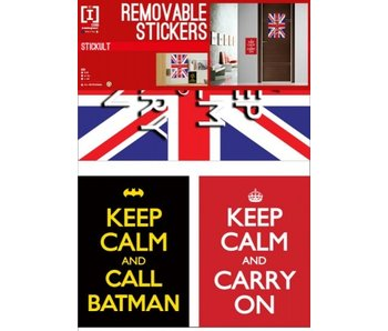 Muursticker Keep Calm 100x50cm