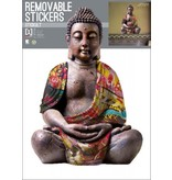 Buddha Reflective - Wall Decal - 70 x 50 cm - Multi