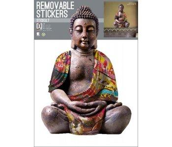 Buddha Wandtattoo Reflective 70x50cm