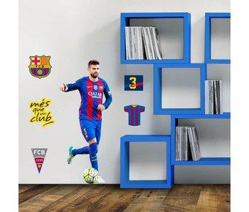 FC Barcelona Wall Sticker 70x50cm Pique