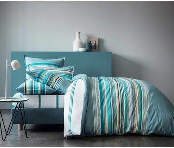 "Matt & Rose Set Dekbedovertek + 2 slopen Esprit graphique Blue ""orage"" 260x240 + 2st 65x65cm"
