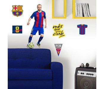 FC Barcelona Muursticker Iniesta 70x50cm