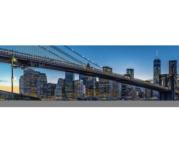 Fotobehang Blue Hour over New York 366 x 127 cm