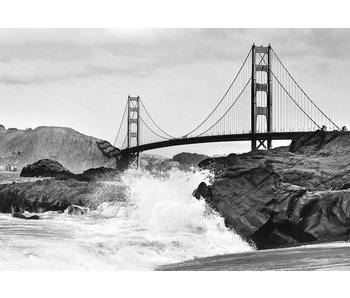 Fotobehang Golden Gate Bridge 366x254 cm