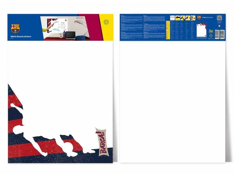 FC Barcelona White Board player - Muursticker - 45 x 65 cm - Multi