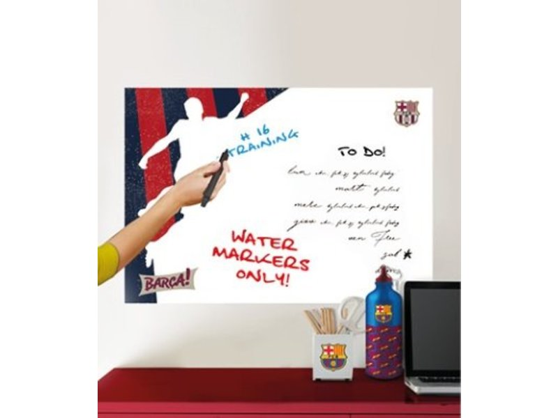 FC Barcelona White Board player - Muursticker - 45 x 65 cm - Multi