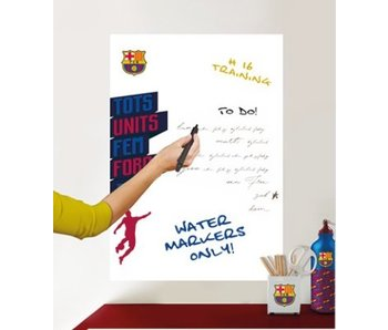 FC Barcelona muursticker White Board logo 45x65cm
