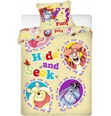 Disney Winnie the Pooh Hide and Seek - Dekbedovertrek - Eenpersoons - 140 x 200 cm - Geel