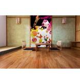 Fotobehang Floral Girl - 183 x 254 cm - Multi