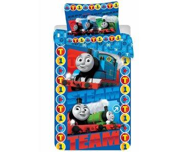 Thomas de Trein Duvet Cover Steam Team 140x200 + 60x70cm