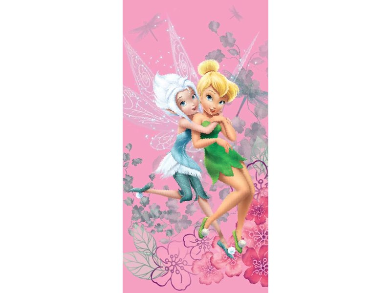 Disney Fairies Tinkerbell WInter - Strandlaken - 70 x 140 cm - Roze