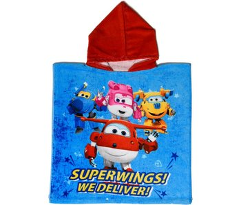 Super Wings Poncho On Time