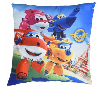 Super Wings Kissen 4 Helden 40x40cm