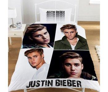 Justin Bieber Dekbedovertrek Montage polycotton 140x200 + 50x75cm